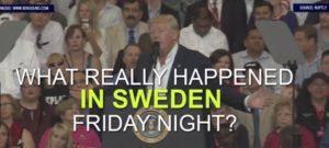 昨晩スウェーデンで